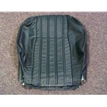 Seat Cover Front Upper Leather Black (Fiat Pininfarina 124 Spider 1983-85) - OE NOS