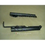 Seat Adjuster Rail Pair (Seat Side) 2x (Fiat X1/9 1973-82) - U8
