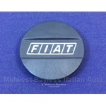 "Steel Wheel Center Cap Plastic ""FIAT"" (Fiat 124, X1/9, 128, 131) - OE NOS"
