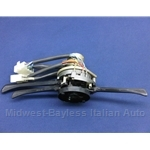 Steering Column Switch Assembly 3-Pos Lights (Fiat 128 Sedan Wagon 1970-71 + Fiat 124 Spider 1968-71) - OE NOS