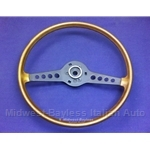 "Steering Wheel - 15"" Wood Grain (Fiat 124 Spider/Coupe, 850 Spider/Coupe through 1972) - U8.5"