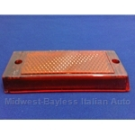 Tail Light Lens Right Center Red (Fiat 131 Sedan 1975-78) - OE NOS
