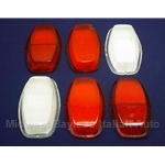 Tail Light  Lens SET 6x Left + Right (Fiat 128 3P 1976-79) - OE