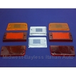 Tail Light Lens Set Complete Altissimo (Fiat 131 Sedan 1975-78) - OE NOS