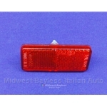 Tail Light / Marker Light Reflector Red (Fiat 124, 128, 850) - OE NOS