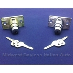 Tailgate Lock and Pushbutton With Keys (Fiat 124 Wagon 128 Wagon) - OE NOS