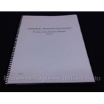 Technical Specifications Manual (Lancia Beta Scorpion Montecarlo) - NEW