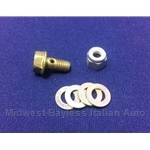 Cable End Screw Assembly 5mm for Choke/Hand Throttle (Fiat to 1978) - OE NOS