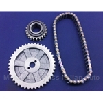 Timing Chain and Gears Kit (Fiat 124 Sedan Wagon 1966-73) - NEW
