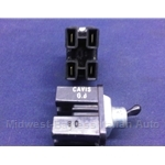 Toggle Switch 4-Pin / 2-Position - Hazard, Wiper (Fiat 850, 600, 500) - OE NOS