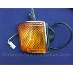 Turn Signal Assembly Front Left (Fiat 128 Sedan Wagon 1972-78) - OE NOS