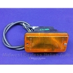 Turn Signal Assembly Front Right (Fiat 124 Spider, X1/9, 131, 128, Lancia 1975-On) - OE NOS