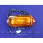 Turn Signal Assembly Left Hand Amber (Fiat 124 Sedan 1974) - OE NOS