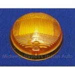 Turn Signal Lens Front Amber (Fiat 124 Coupe, Fiat 850 Coupe, 1100R - OE