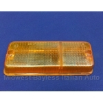Turn Signal Lens Front Left (Fiat 128 SL Coupe 1971-72) - OE NOS