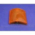 Turn Signal Lens Front Left (Fiat 128 Sedan, Wagon, Rally 1971-73 North America + Euro 1971-76) - OE