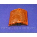 Turn Signal Lens Front Right (Fiat 128 Sedan, Wagon, Rally 1971-73 North America + Euro 1971-76) - OE