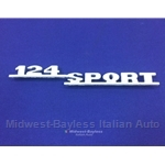 "Badge Emblem ""124 Sport"" (Fiat 124 Spider 1968-73) - U8"