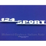 "Badge Emblem ""124 Sport"" (Fiat 124 Spider 1968-73) - NEW"
