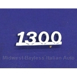 "Badge Emblem ""1300"" (Fiat 128) - OE NOS"
