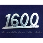 "Badge Emblem ""1600"" (Fiat 124 Coupe 1971-73) - U8"