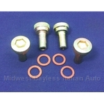 Valve Cover Thumb Nut DOHC SET - Early Style 4x (Fiat 124, 131, Lancia) - RECONDITIONED