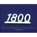 "Badge Emblem ""1800"" (Fiat 124 Coupe 1974-75) - U8"
