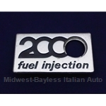 "Badge Emblem ""2000 Fuel Injection"" (Fiat 124 Spider 1980-On) - U8"
