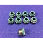 Valve Stem Seal SET 7mm Rubber (Fiat 850 w/903cc + Other Fiat) - NEW