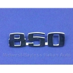 "Badge Emblem ""850"" (Fiat 850 Spider 1967-69) - OE NOS"