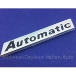 "Badge Emblem ""Automatic"" (Fiat 124 Sedan Wagon 1971-73) - OE NOS"