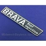 "Badge Emblem ""Brava Fuel Injection"" (Fiat 131 Brava 1980-81) - OE NOS"