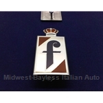 "Badge Emblem ""f"" Side (Fiat 124 Spider 1968-74) - NEW METAL"