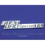 "Badge Emblem ""Fiat 124 Special TC"" (Fiat 124 Sedan) - OE NOS"