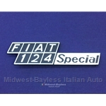"Badge Emblem ""Fiat 124 Special"" (Fiat 124 Sedan) - NEW"