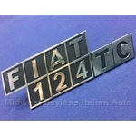 "Badge Emblem ""Fiat 124 TC"" (Fiat 124 Sedan Wagon) - OE NOS"
