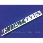 "Badge Emblem ""Fiat 131 S"" (Fiat 131 Sedan 1977-78) - OE NOS"