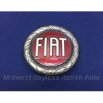 "Badge Emblem ""FIAT"" 58mm Bronze Enamel - FACTORY OE (Fiat X19, 124, 128, 850, 131) - U8.5"