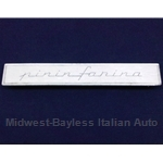 "Badge Emblem ""Pininfarina"" - Thin Script - Side Quarter Panel (Pininfarina 124 Spider) - U8"