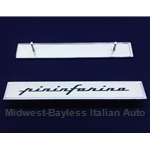 "Badge Emblem ""Pininfarina"" - Thick Script - Side Quarter Panel (Pininfarina 124 Spider) - OE"