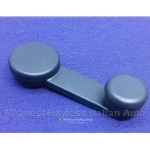 Window Crank Handle Dark Blue (Fiat Strada) - OE NOS
