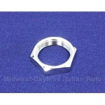 Windshield Wiper Post Bezel Nut Chrome (Fiat 124 Spider, 850 Spider, Lancia Scorpion) - NEW