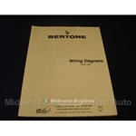 Wiring Diagrams Manual (Fiat Bertone X19 1983-84) - NEW