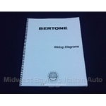 Wiring Diagrams Manual (Fiat Bertone X19 1985-88) - NEW