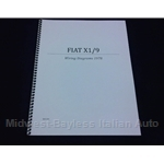 Wiring Diagrams Manual (Fiat X19 1978) - NEW