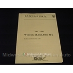 Wiring Diagrams Manual (Lancia Zagato Coupe 1981 1982) - NEW