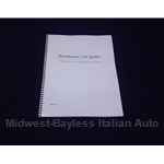 Wiring Diagrams Manual (Fiat 124 Spider Pininfarina 1983-85) - NEW