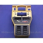 Dashboard Console - Lower Radio With/AC - Tan (Yugo) - OE NOS