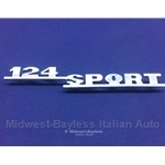 "Badge Emblem ""124 Sport"" (Fiat 124 Spider 1968-73) - OE"