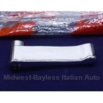 Door Handle Interior Chrome Metal (Fiat Pininfarina 124 Spider All, X1/9 1973-78) - OE NOS